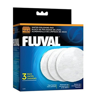 Fx5 Fluval Fino Filtro De Agua Para Pulir - 3-pack