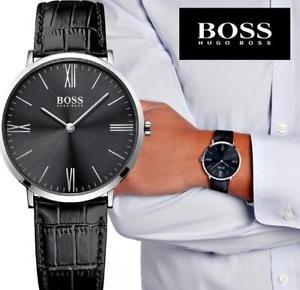 Relógio Hugo Boss Masculino Couro Preto - 1513369