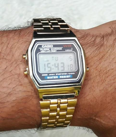 Relógio Casio Retro Vitage Unissex Chumbo/dourado/prata