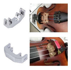 Surdina De Metal Para Violino E Viola Abafador De Som