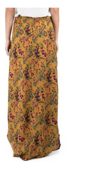 Falda Floral Color Mostaza - Re:named