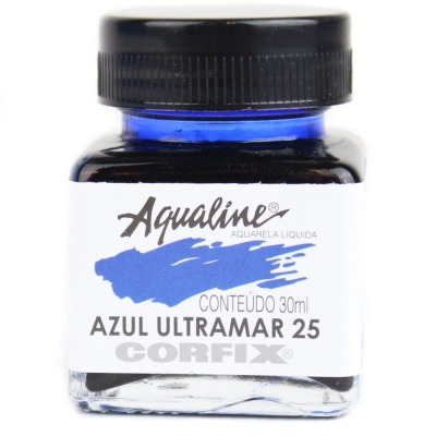 3x Aqualine Aquarela Líquida Aerografia Corfix 30ml  Azul Ul