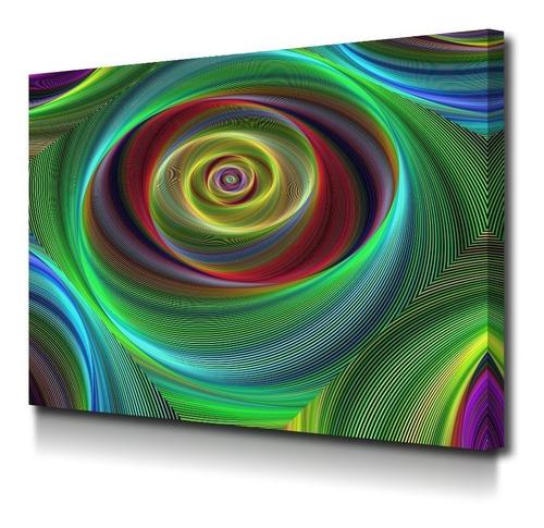 Cuadro Espiral Moderno En Lienzo Decorativo Foto Canvas