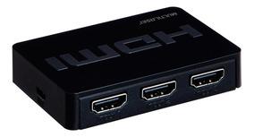 Switch Hdmi 3 Portas 3 Em 1 Preto 1,8m Wi290 Multilaser