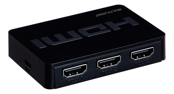 Switch Hdmi 3 Portas 3 Em 1 Preto 1,8m Wi290 Multilaser