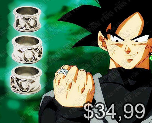 Anillo Anime Dragon Ball Infinito Black Goku (tienda Friki)