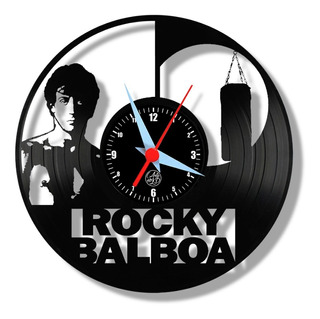 Rocky Balboa Relógio Parede Disco Vinil Cinema Stallone Arte