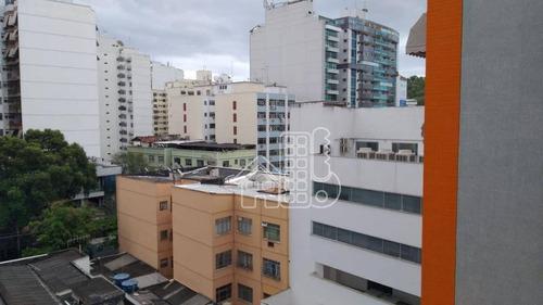 Apartamento Com 2 Dormitórios À Venda, 90 M² Por R$ 410.000,00 - Icaraí - Niterói/rj - Ap3110