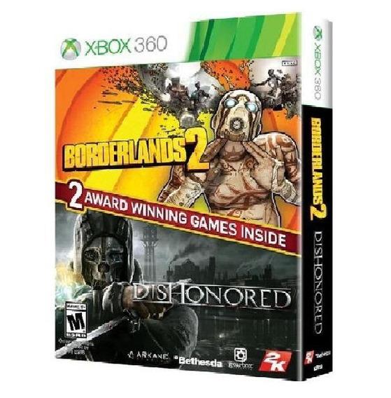 Bundle Borderlands 2 E Dishonored Midia Fisica - Xbox 360