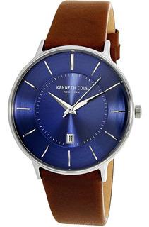 Reloj De Hombre By Kenneth Cole Ny, Azul Y Plata,15097001