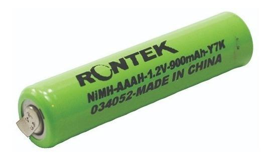 Bateria Aaa 1,2v 900mah Com Terminal Kit Com 4 Peças Rontek