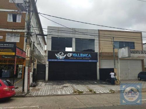 Galpão Para Alugar, 280 M² Por R$ 5.400,00/mês - Vila São Jorge - São Vicente/sp - Ga0044