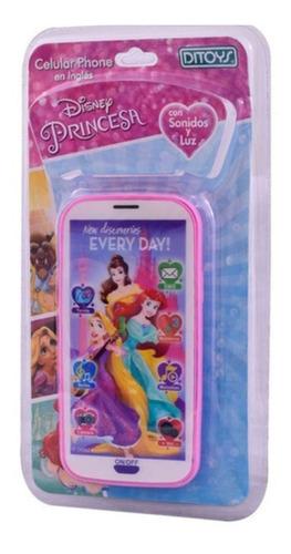 Celular Phone Disney Princesa Con Luz Y Sonido Ditoys 2089
