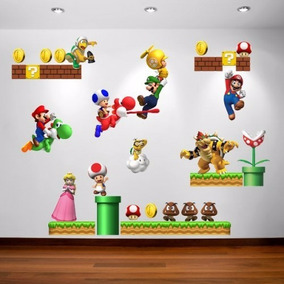 Adesivo Decorativo De Parede - Super Mario Bros Modelo 348