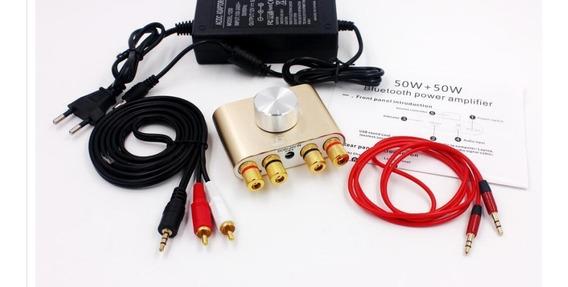 Mini Bluetooth Estéreo Som Usb, Aux Chip De Amplificador