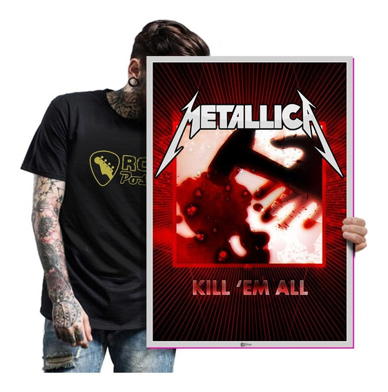Quadro Placa Metallica Banda De Rock Heavy Metal Tam A2 01
