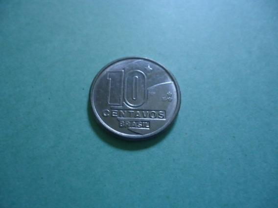 Moeda 10 Centavos De 1989 Com Data Rebatida Ou Duplicada