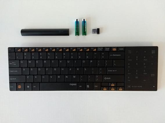 Mini Teclado Rapoo E9080 Ultra Fino Sem Fio Wireless 2,4ghz