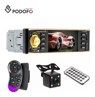 Autoestereo Podofo 1 Din Bluetooth Dvd Micro Sd