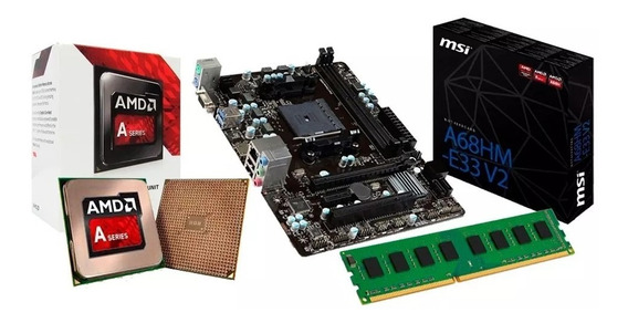 Kit Gamer Amd A6 7480 + Placa A68hm-e33 + 8gb Ddr3 + Nfe
