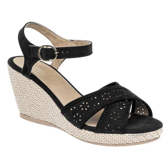 Sandalia Para Dama Padus Pet8021 Negro P19a
