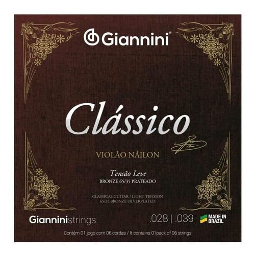 Imagem 1 de 3 de Encordoamento Violão Nylon Giannini Clássico Tensão Leve