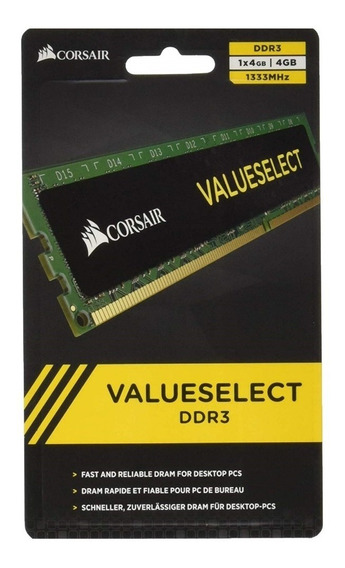Memoria Ram Pc Ddr3 4gb Corsair 1333 Mhz Value