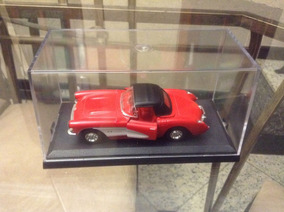Mini/chevrolet Corvette 1957 Vermelho - Welly - Cx. Acrílico