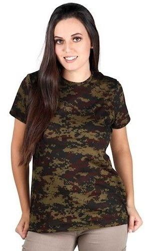 Camiseta Camuflada Feminina Bélica Soldier Airsoft
