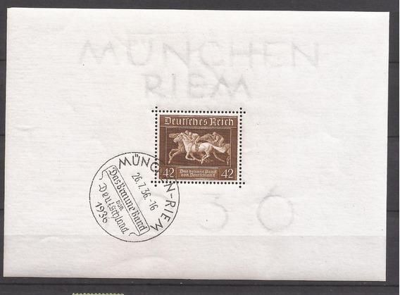 Alemania 1936 Bloque Caballos De Raza Usado 18 U$d