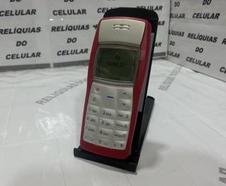 Celular Nokia 1100 ( Lanterna )vermelho & Branco Simples Top