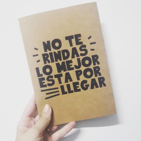 10 Cuadernos Kraft 20 Hojas Lisas 15x21cm
