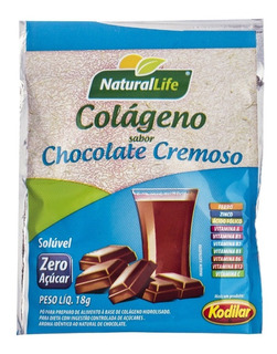 Kit 12 Colágeno Sabor Chocolate Cremoso 18g Natural Life