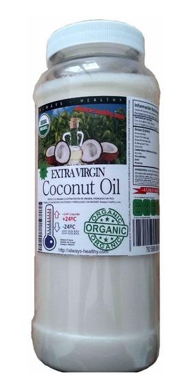 Aceite Coco Orgánico Exvirgen Prensado/ Frío Sin Sabor 1 Lt