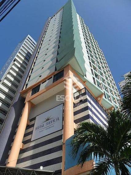 Flat Com 2 Quartos À Venda, 65 M², Vista Mar, Mobiliado - Meireles - Fortaleza/ce - Fl0049