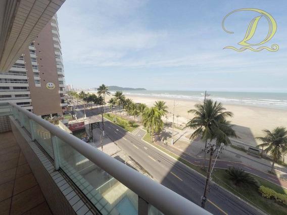 Apartamento De 03 Suítes Frente Ao Mar À Venda Em Praia Grande Na Aviação!!! - Ap2634