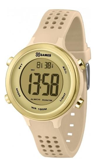Relógio X-games Feminino Bege E Dourado Xfppd066 Cxtx Digit