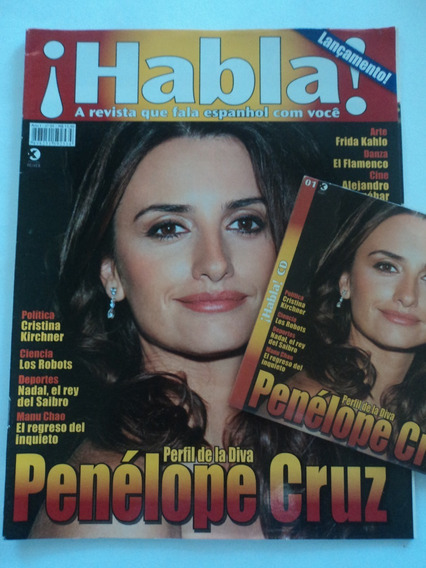 Revista:habla!:vol.1:+cd:penélope Cruz,frida Kahlo:espanhol