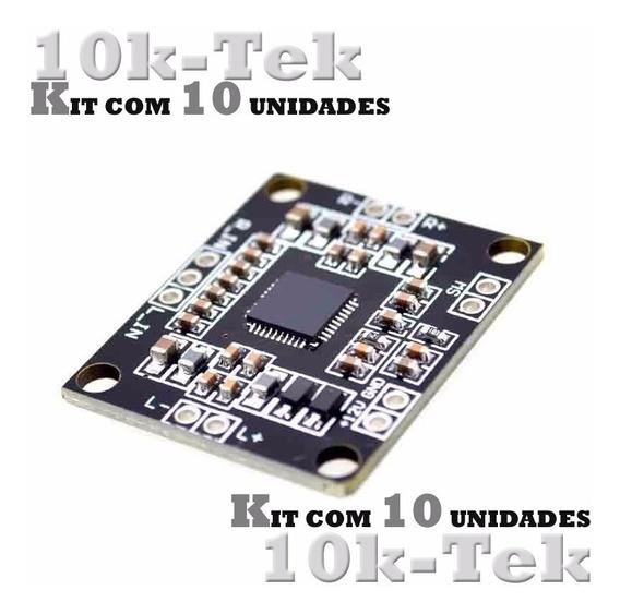 10 X Pam8610 Placa Mini Amplificador Digital De 2 X 15 W