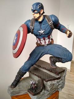 Figura De Acción Capitan America Civil War Esc 1/4 De Marvel