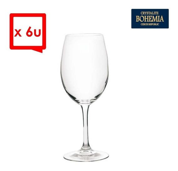 Copas De Vino Cristal Bohemia X6 450ml