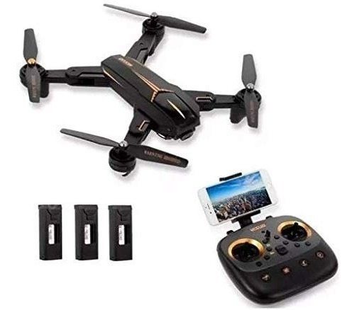 Drone Xs812 C/câmera Fpv 1080p 4k Gps 300mts 3 Bateria 45min