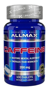 Cafeína Em Cápsula Allmax Caffeine 200mg 100 Tabs Importado