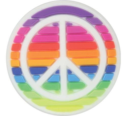 Crocs Jibbitz Rainbow Peace Sign Hombre Mujer Niños