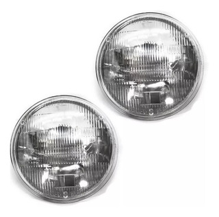 Par Farol Sealed Beam Jeep Willys 180mm 12v Silibim Siribim