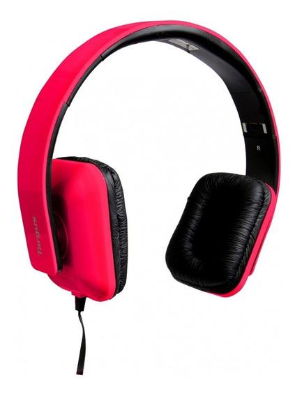 Fone De Ouvido Tipo Headphone Dobrável C/ Microfone Vermelha
