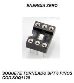 Soquete Torneado Spt 6 Pinos Pac 2 Unid Cod.soq1120 Frete Cr