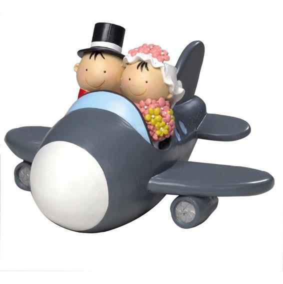 Cake Topper O Figura Para Pastel De Novios En Avión
