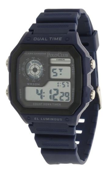 Reloj Hombre Mano Polo Club Caballero Negro Rlpc3000a