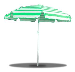 Sombrilla Parasol Playa Reforzada Reclinable 180m Palermoº